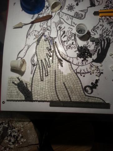 La corne d'abondance - creation de mosaique sur mesure - mosaique toulouse - Eloïse baro
