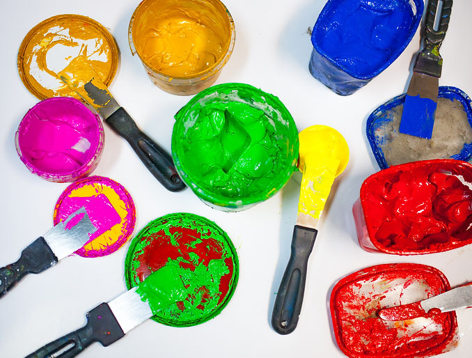 Multi-colored bright paints for the pres