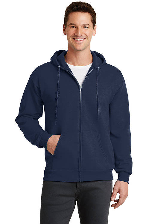 Port & Company® Core Fleece Full-Zip Hooded Sweatshirt