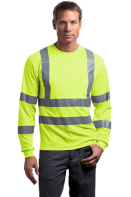 CornerStone® - ANSI 107 Class 3 Long Sleeve Snag-Resistant Reflective T-Shirt