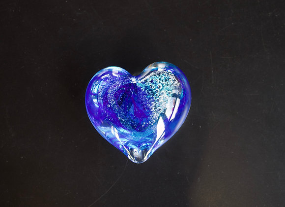 Heart Paperweight in Blues