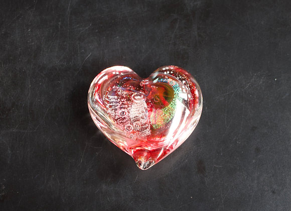 Heart Paperweight in Reds