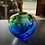 Thumbnail: Wave Vase in New Green and Cobalt