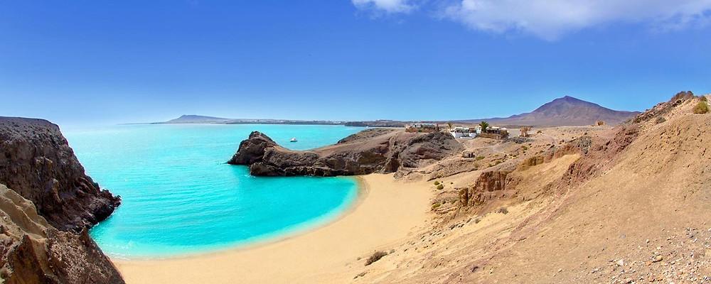 Lanzarote, playa, sol, mar, vacaciones