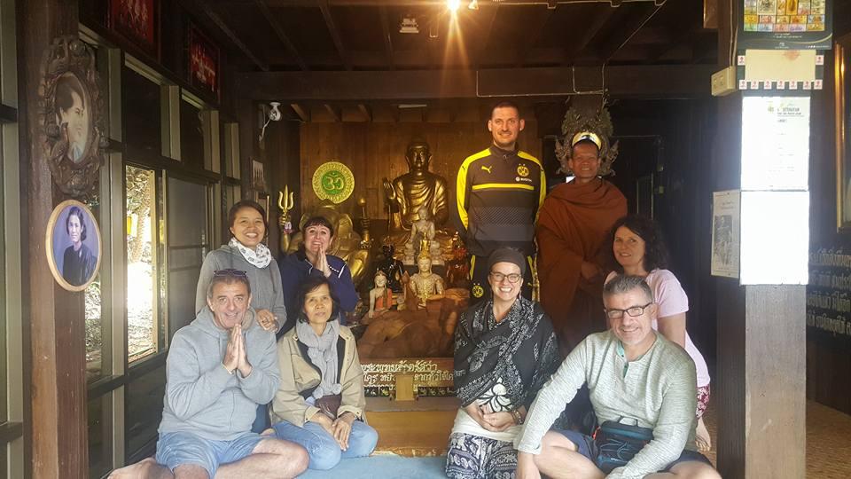 Visite d'un moine hermite