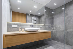bigstock-Bathroom-With-Shower-And-Mirro-204853081