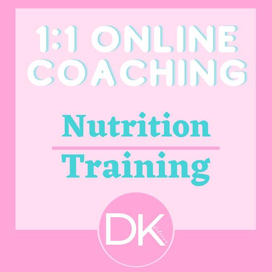 1:1 Nutrition & Training Online Coaching
