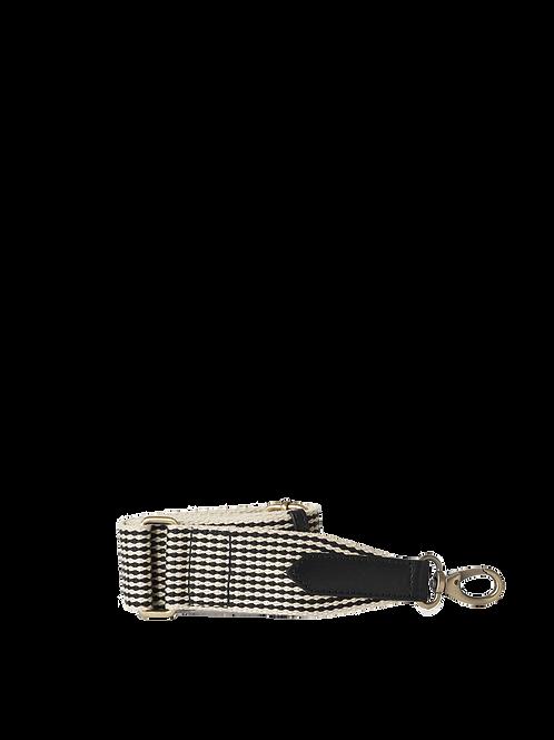 O My Bag Webbing Strap Checkered Black