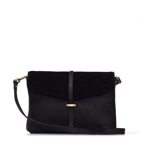 O My Bag Ella Midi Soft Grain Black