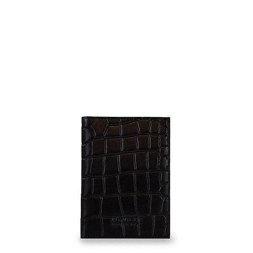 O My Bag Passport Holder Black Croco