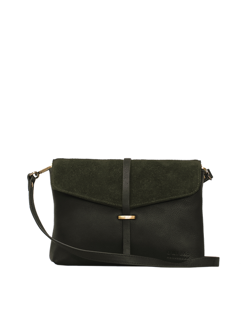 O My Bag Ella Midi Soft Grain Forest Green