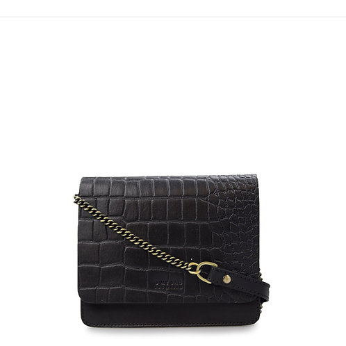 O My Bag Audrey Mini Black Croco