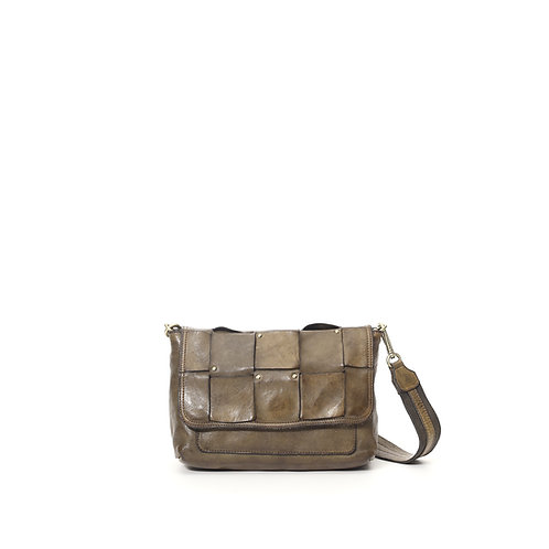 Campomaggi Edera Weave Shoulder Bag Military