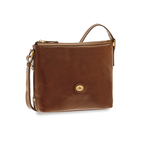 The Bridge Story Donna Crossbody Zipper Bruin