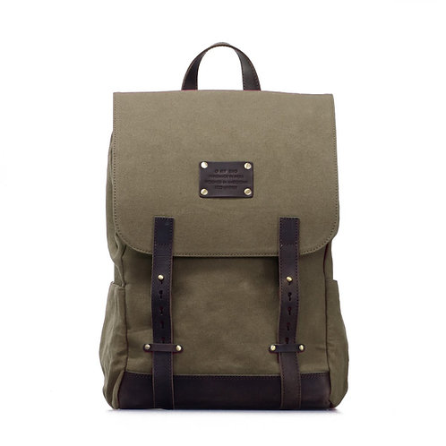 O My Bag Mau's Backpack Olive Dark Brown