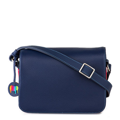 MyWalit Rhodes Flapover Crossbody Blue
