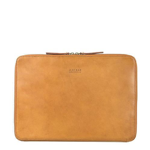 O My Bag Zipper Laptop Sleeve 15'' Cognac