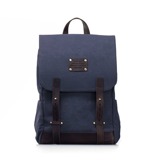 O My Bag Mau's Backpack Navy Dark Brown