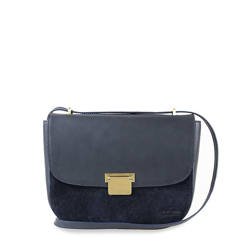O My Bag Meghan Navy Suede