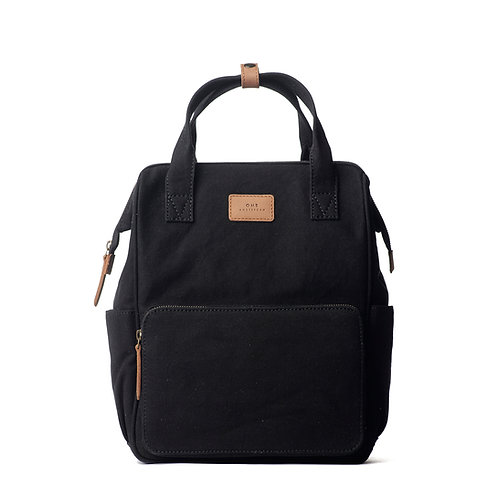 O My Bag Billie's Backpack Black Camel Canvas