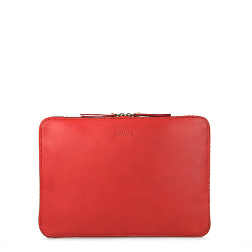 O My Bag Zipper Laptop Sleeve 13'' Red