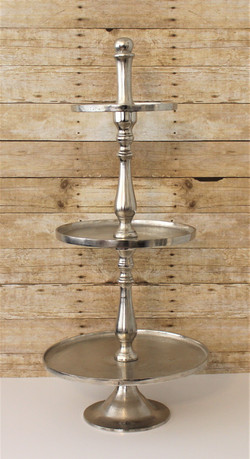 """Silver tiered tray 38"""""""