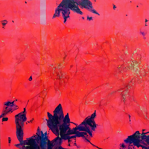 Triptych of Hot Pink Detail-1