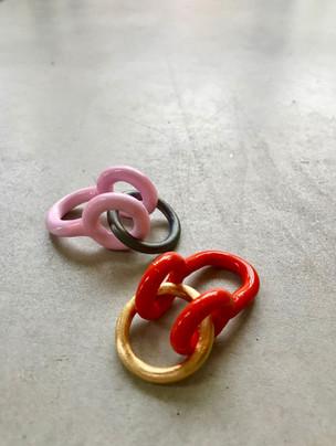 Pink/Black and Orange/Gold