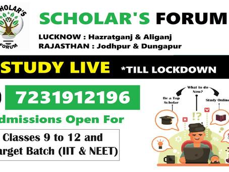 Scholar's Forum is Teaching LIVE to IIT & NEET