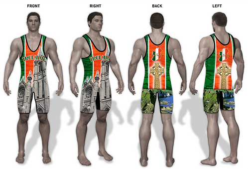 Time To Wrestle - Ireland Wrestling Singlet