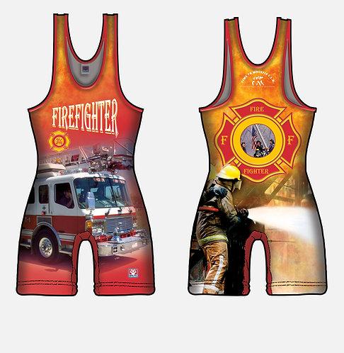 Time To Wrestle - Fireman Wrestling Singlet