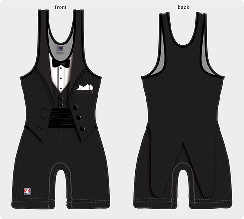 Time To Wrestle - Tuxedo Wrestling Singlet