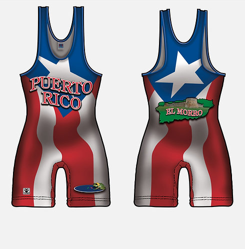 Time To Wrestle - Puerto Rico Wrestling Singlet