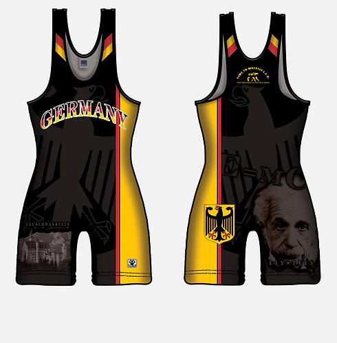 Time To Wrestle - Germany Wrestling Singlet