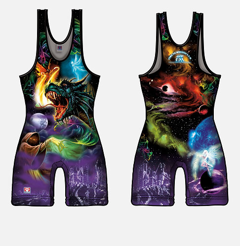 Time To Wrestle - Myth Magic Wrestling Singlet