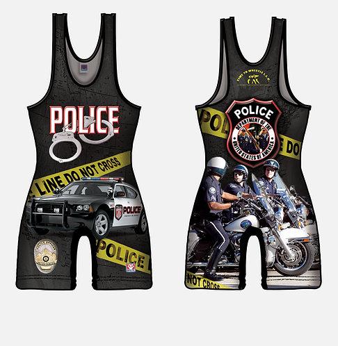 Time To Wrestle - Police Wrestling Singlet