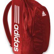 "Adidas Wrestling Gear Bag Red-24""x 12""x 11""- carry-all-padded straps-drawstring-zipper pocket"