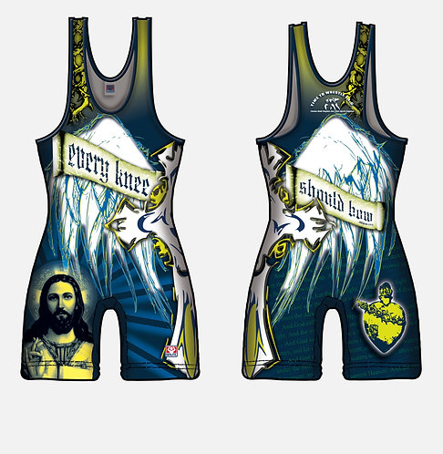Time To Wrestle - Jesus Religious Singlet