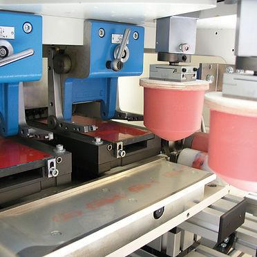 Machine de tampographie 2 couleurs Tampoprint v-duo intérieur
