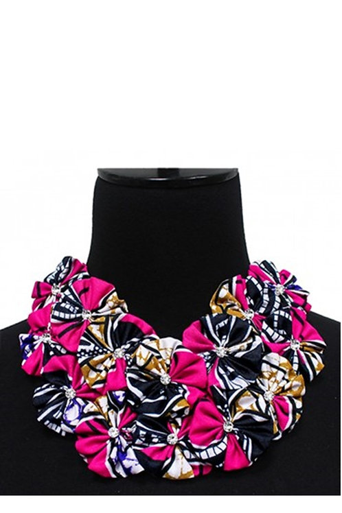 Trendy Kente Pattern Cloth Collar Necklace 134