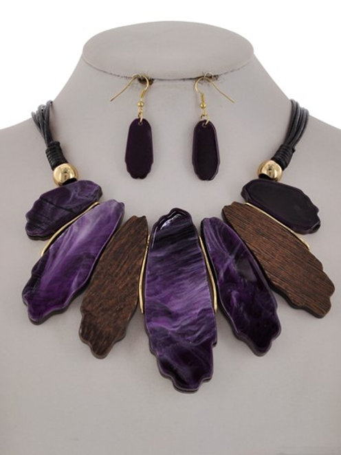Graduating Multi-Stone Purple 112