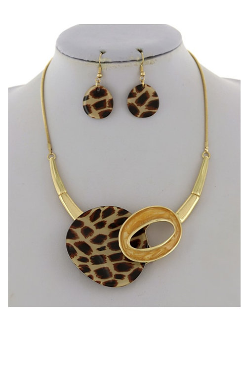 Gold Tone With Animal Print 101