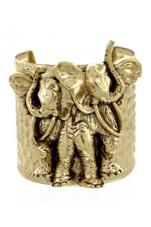 Gold Elephant Cuff 118