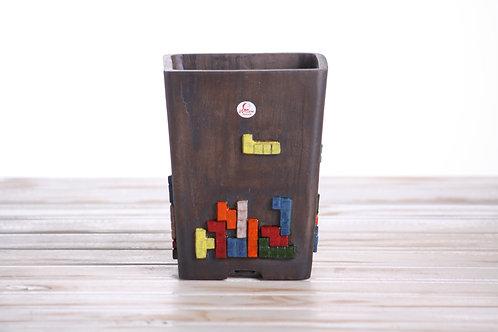 Handmade unique Cascade Tetris 15.5 x 12 x 10.5cm