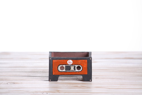 Handmade unique Cassette Tape 11 x 10 x 6cm