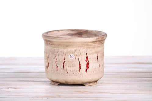 Hand made crackle pot No.8 16.5 x 12cm