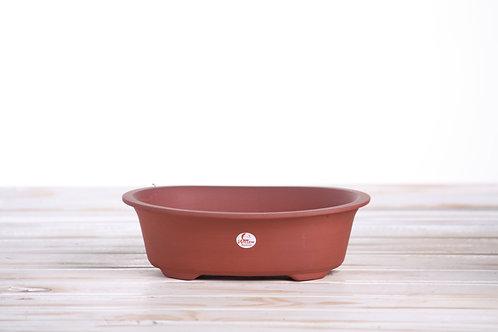 Oval fancy Small unglazed 19x15.5x5cm