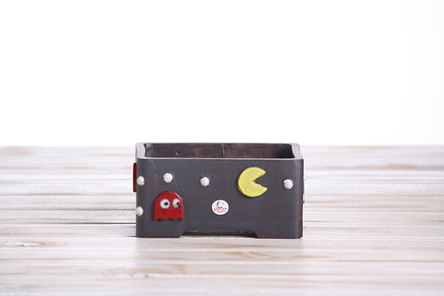 Handmade unique Rectangle Pacman 13.5 x 9.5 x 4.5cm