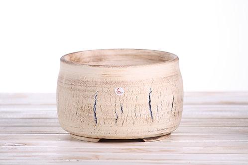 Hand made crackle pot No.10 18.5 x 12cm