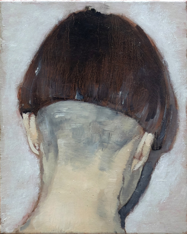 Arrière de tête No.1, 2016, Oil on canvas, 24 x 32cm. Private collection, Paris.